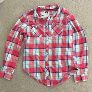 GILLY HICKS Watermelon Plaid Flannel